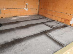 Fußbodenabdichtung mit Bitumen-Schweißbahnen
